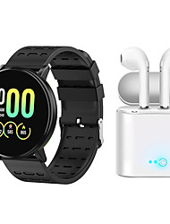 cheap -Indear 119PLUS  Women Smart Bracelet Smartwatch BT Fitness Equipment Monitor Waterproof with TWS Bluetooth Wireless Headphones Music Headphones for Android Samsung/Huawei/Xiaomi iOS Mobile Phone