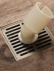 cheap -10x10cm Antique Brass Square Washing Machine Floor Drain