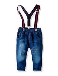 cheap -Kids Toddler Boys' Basic Street chic Solid Colored Jeans Blue