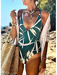 abordables -Femme Vert Une-pièce Maillots de Bain - Géométrique M L XL Vert