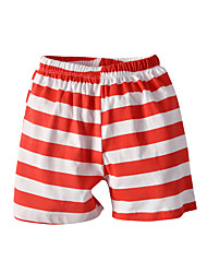 cheap -Kids Toddler Boys' Basic Street chic Striped Shorts Red