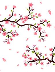 Недорогие -романтические цветы оконная пленка&усилитель; наклейки украшения матовые / цветочные цветочные ПВХ (поливинилхлорид) наклейки на окна / матовые / наклейки на двери