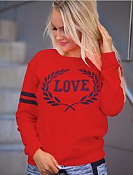 cheap -Women's Sweatshirt Geometric Basic White Red Blushing Pink S M L XL