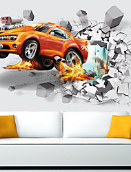 cheap -3D Soccer Sports Boys Bedroom Art Vinyl Wall Sticker Personalized Car For Kids Rooms Nursery Decor