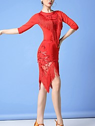cheap -Latin Dance Skirts Tassel Women's Performance Polyester