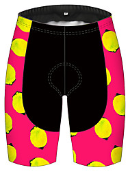 cheap -21Grams Women's Cycling Shorts Bike Pants / Trousers Padded Shorts / Chamois Bottoms Breathable 3D Pad Quick Dry Sports Fruit Lemon Black / Red Mountain Bike MTB Road Bike Cycling Clothing Apparel