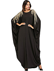 cheap -Adults' Women's Abaya Dress For Party Beaded Cotton Pearl Embroidered Halloween Carnival Masquerade Dress
