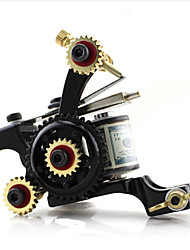 cheap -Professional Tattoo Machine - 1 cast iron machine liner & shader Best Quality Adjustable Fit 1 pcs # Alloy Casting