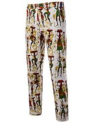 cheap -Men's Basic Chinos Pants - Print Yellow US32 / UK32 / EU40 US34 / UK34 / EU42 US36 / UK36 / EU44