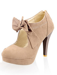 cheap -Women's Heels Stiletto Heel Round Toe Synthetics Spring &  Fall Black / Beige