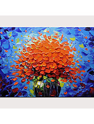 cheap -Oil Painting Hand Painted - Floral / Botanical Pop Art Modern Stretched Canvas