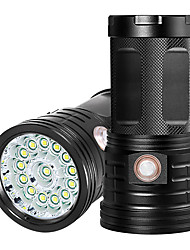 cheap -XM14 LED Flashlights / Torch Waterproof 11000 lm LED LED 14 Emitters Manual 3 Mode with USB Cable Waterproof Professional Anti-Shock Easy Carrying Durable Camping / Hiking / Caving Police / Military