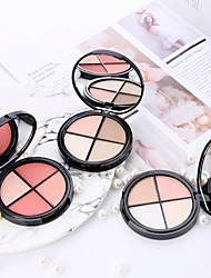 cheap -4 Colors Dry Brightening / Casual / Daily / Convenient Blush China Sweet / Fashion Mini Style / Carrying / Cruelty Free School / Date / Birthday Party Powder Makeup Cosmetic