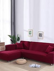 Недорогие -нордический простой однотонный эластичный чехол для дивана односпальный двойной трехместный диван