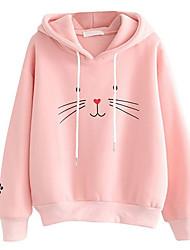 cheap -Women's Hoodie Geometric Basic White Blushing Pink Navy Blue S M L XL XXL