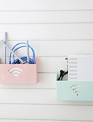 cheap -Routers Storage Box Racks Protection Box Hang Wall Cable Router Storage Shelf 4 Color WIFI Optical Modem Storage Holder