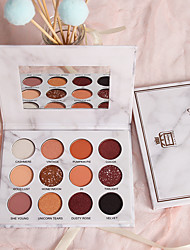 cheap -12 Colors Eyeshadow Eyeshadow Palette Matte Cosmetic EyeShadow Face Easy to Carry Women Best Quality Pro Ultra Light (UL) Girlfriend Gift Safety Convenient Daily Makeup Halloween Makeup Party Makeup