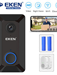 cheap -EKEN V6 Smart WiFi Video Doorbell With 2*Chime And 2*18650 Batter