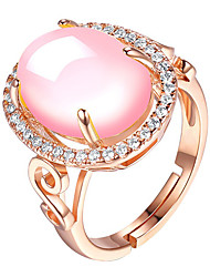 cheap -Women's Ring AAA Cubic Zirconia 1pc Rose Gold Platinum Plated Alloy Stylish Daily Jewelry Cute