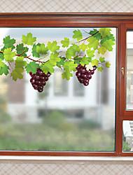 Недорогие -Виноградная лоза матовая оконная пленка статическая цеплять винил теплоизоляция защита частной жизни домашнего декора для окна шкафа двери шкаф / окно стикер