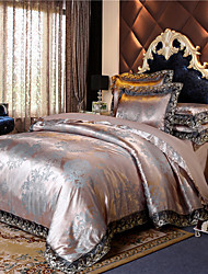 cheap -European-style high-grade Satin Jacquard Lace four-piece wedding bed linen sheets set 1.5 m / 1.8 m 2 enlarged