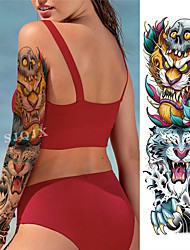 cheap -1 pcs Temporary Tattoos Water Resistant / Waterproof / Safety / Classic Face / Body / Hand Water-Transfer Sticker Body Painting Colors