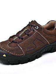 cheap -Men's Comfort Shoes Leather Fall & Winter Athletic Shoes Black / Brown / Khaki