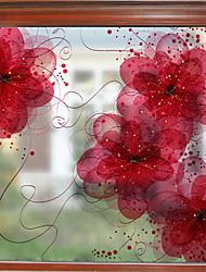 Недорогие -сон цветок узор матовая оконная пленка цеплять винил теплоизоляция защита частной жизни домашнего декора для окна двери шкафа стикер / наклейка окна