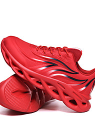 cheap -Men's Comfort Shoes PU Spring & Summer / Fall & Winter Casual Athletic Shoes Running Shoes Breathable Black and White / Dark Red / Black / Red