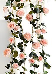 cheap -Wedding Decorate Site Layout High Simulation Rose Vines 180cm Artificial Flower Home Decoration 1 Bouquet 180cm