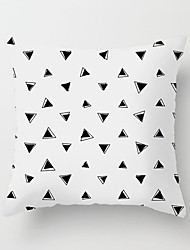 cheap -1 pcs Polyester Pillow Cover Pink Nordic Simple Black and White INS Geometry Pillow Case Cushion Modern Model Room Living Room Sofa Cushion