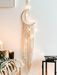 cheap -Hand-woven tapestries for weaving moon dreamcatcher Nordic decoration presents creative gifts to students with lamp money