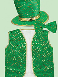 cheap -Kiss Irish Green Velour Party Cosplay ST Patrick's day Pride Costume Full Set