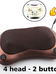 cheap -2 Button Relaxation Massage Pillow Vibrator Electric Shoulder Back Heating Kneading Infrared therapy for shiatsu Neck Massage