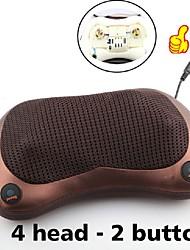 Недорогие -2 кнопки расслабляющая массажная подушка вибратор электрическое отопление спины разминание замешивание инфракрасная терапия для массажа шеи шиацу