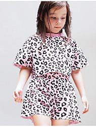 cheap -Kids Girls' Basic Galaxy Short Sleeve Clothing Set Blushing Pink