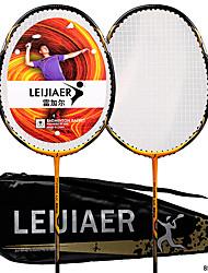 cheap -1002 Badminton Rackets One-piece Suit Aluminum Alloy Carbon Durable 2* badminton rackets 1* storage bag Indoor Outdoor