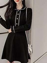cheap -Women's Sheath Dress - Solid Colored Black S M L XL