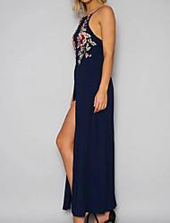 cheap -Women's Elegant Sheath Dress - Geometric Black White Blue S M L XL