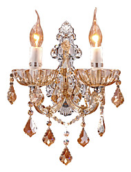 cheap -European Crystal Wall Lamp Simple Modern Bedroom Bedside Lamp American Clip Living Room Background Wall Aisle Lighting