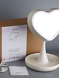 cheap -Heart Shape LED Upgraded Makeup Mirror Light Fill Light Cosmetic Vanitiy Light Brightness Adjustable Storable Bottom Base Creative USB 1pc