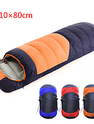 cheap -Shamocamel® Sleeping Bag Outdoor Camping Envelope / Rectangular Bag -10~5 °C Single Duck Down Waterproof Portable Breathable Warm Durable Skin Friendly 210*80 cm Spring &  Fall Winter for Camping