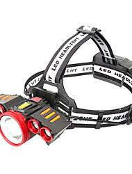 Недорогие -Налобные фонари Водонепроницаемый 2000 lm Светодиодная лампа LED 5 излучатели с зарядным устройством Водонепроницаемый Портативные