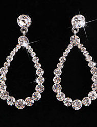 cheap -Women's Crystal Hoop Earrings Classic Love Classic Vintage Imitation Diamond Earrings Jewelry White For Wedding Party 1 Pair