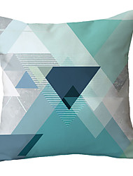 cheap -1 pcs Polyester Pillow Cover Contracted and Contemporary Hold Pillow Cushion for Leaning on Sofa Sitting Room Nordic Geometry Stripe Model Room Light Luxury Blue Cushion for Leaning on Covers