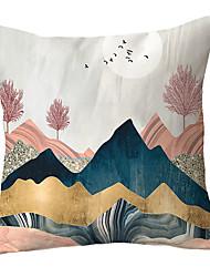 Недорогие -1 шт. Полиэстер наволочка нордический ins диван гостиная маленький кит простая подушка подушка подушки офис подушки подушка головы диван наволочка