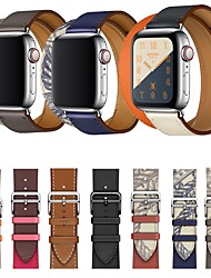 cheap -Apple Smart Watch Leathers Strap Series 5/4/3/2/1 iwatch Sport Business Bands High-end Fashion comfortable Health Genuine Leathers Double Tour Wrist Straps