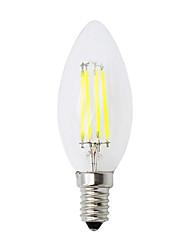 cheap -E14 C35 LED Filament Candle Light Bulb 4W E14 Candelabra Base Lamp 220V AC White Warm White 1pcs