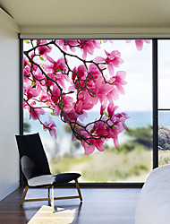 cheap -Magnolia Flowers Pattern Matte Window Film Vinyl Removable Private Home Decor / Door Sticker / Window Sticker