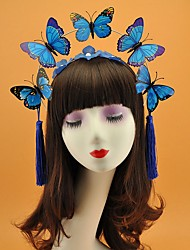 cheap -Poly / Cotton Blend Fascinators with Tassel 1 Piece Special Occasion Headpiece